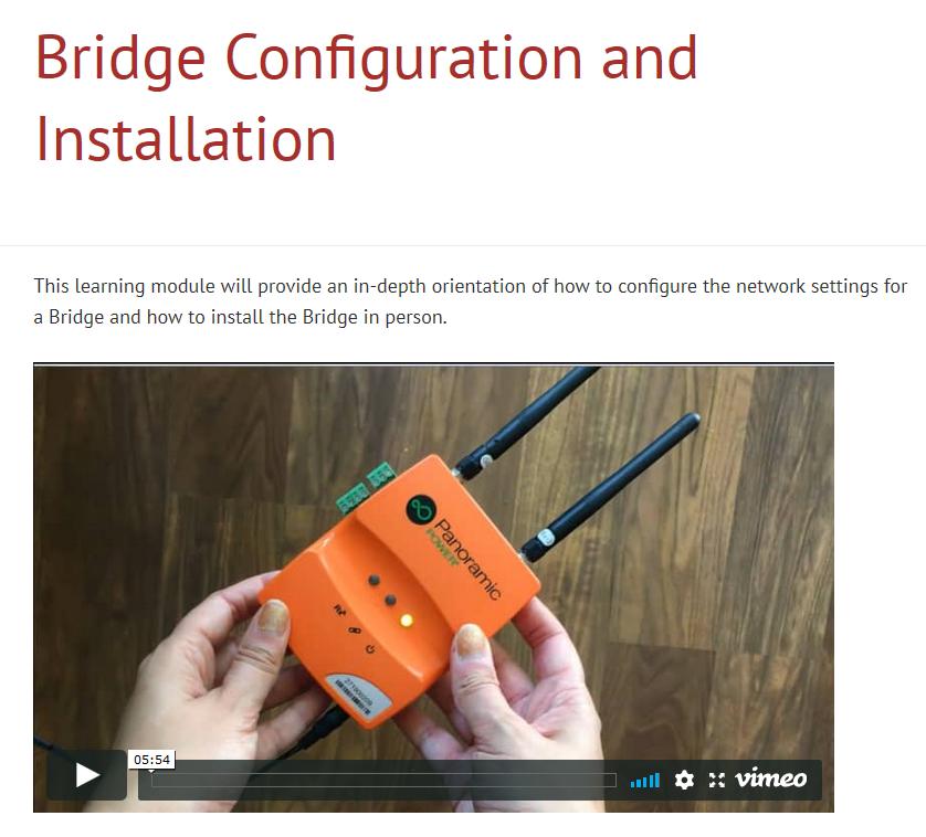 Bridge Configuration and Installation