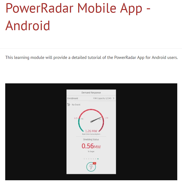 PowerRadar Mobile APP